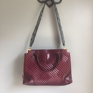 Rebecca Minkoff Amorous Leather Tote Burgundy